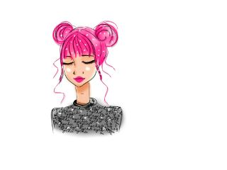 freetoedit drawing girl cute pinkhair