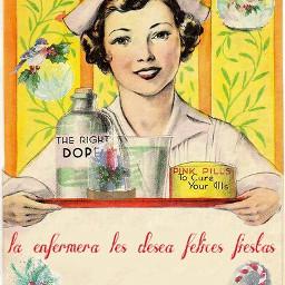 nurses vintage xmas
