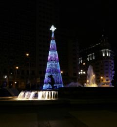 madrid navidad night backlight christmastree freetoedit