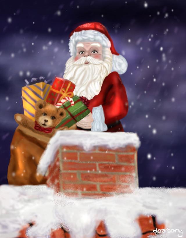 I wish you , your loved ones and Picsart a peaceful and happy Christmas 🎄 and a good start into the New Year 💙 Ich wünsche friedliche und frohe Weihnachtstage und einen Guten Rutsch ins neue Jahr 💗 #drawing #mydrawing #Christmas #winter #digitaldrawing #Santa