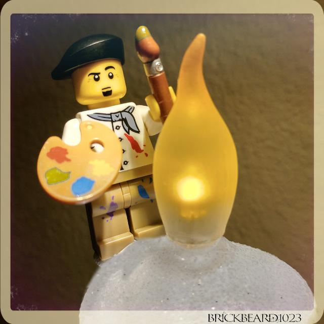 "A bit of ""light""  art 🎨  #Figlife #instalego #lego #legominifigures #legophoto #legophotography #toys #legostagram #legostore #polybag #beard #beardnation #beer30 #beerlover #afol #familytime #workingforaliving #bluecollar #butcher #brick #legomania #legohaul #instalego #toys #gigharbor #pnw #photography #legophotography #minifigures #outdoorphotography"