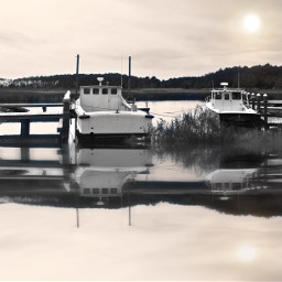 chesapeakebay boatdock boats modifiedblackandwhite reflection