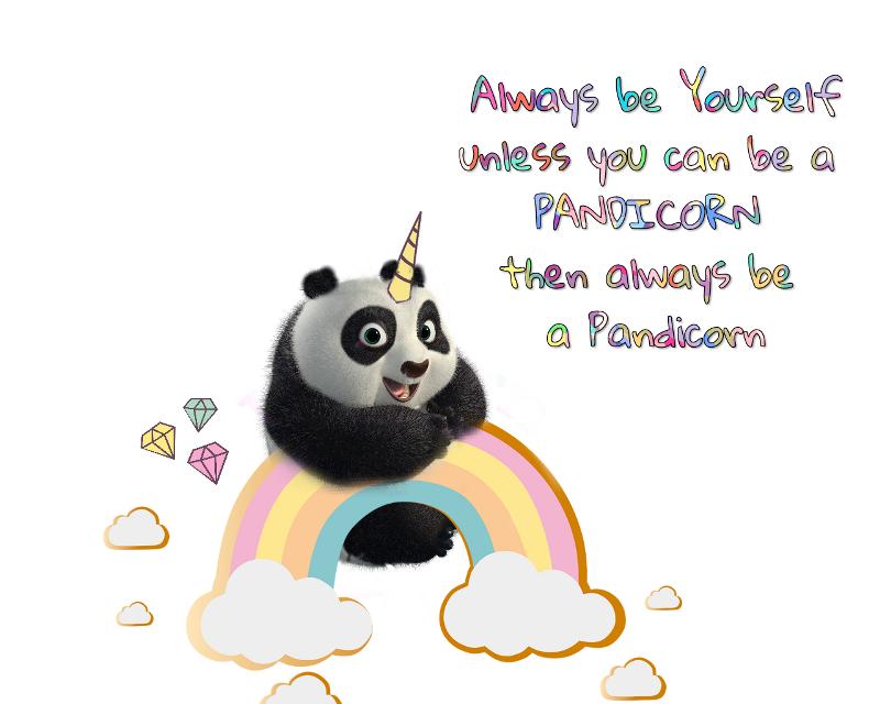 #cuteoverload #pandicorn #panda #unicorn  #magic  #madewithpicsart  For my @ani-ani11  😊