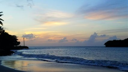 sunset beach clouds caribbean sandals