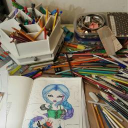 dpcmyhome artlife messyart artstuff messy