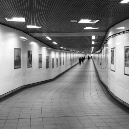 corridor art blackandwhite freetoedit
