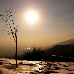 snow thesun meltdown mountain iran