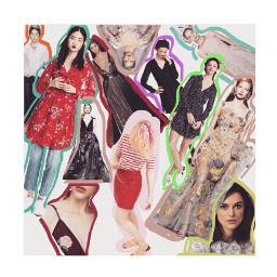 fashion women color borders
