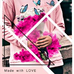 freetoedit remixed pink magicsmoke butterfly