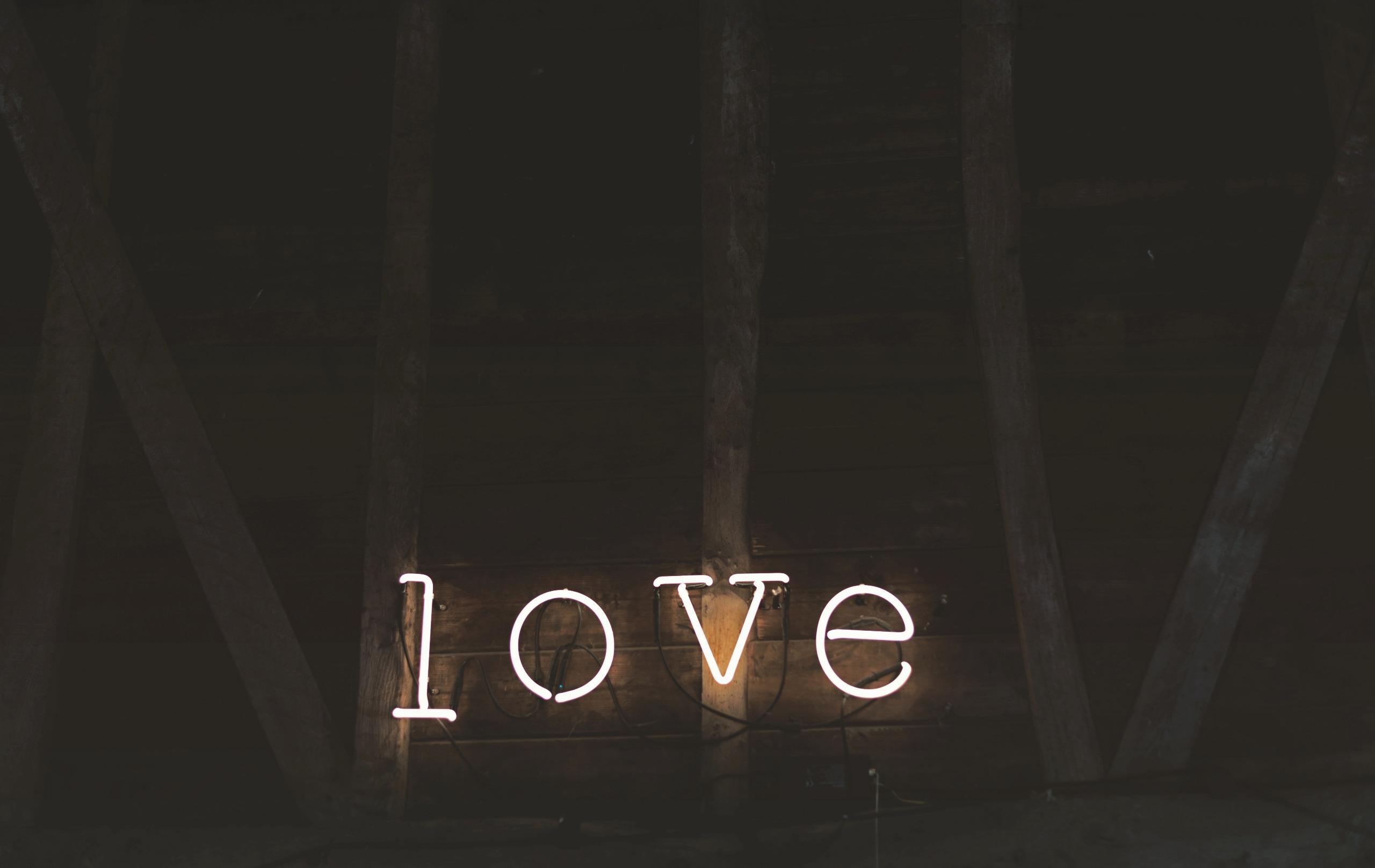 Courtesy of Unsplash (Public Domain)#FreeToEdit #love #billboard #light