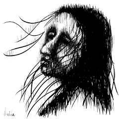 digitaldrawing digitalart people blackandwhite sketch