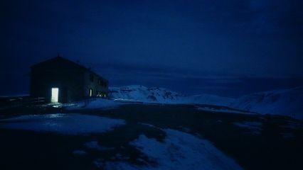 snowscape winter nightscape appennini appennino