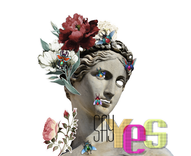 #fte #ftesticker #ftestickers #bug #flowers #flowerheadband #headband #headdress #quoter #sayyes #ladybug #art #art #design #graphicdesign #graphicart #bumblebee #illustration #sticker #statue #rose #roses