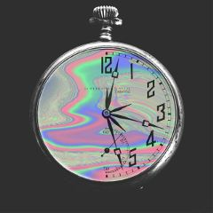 freetoedit time holographic colorful blackandwhite