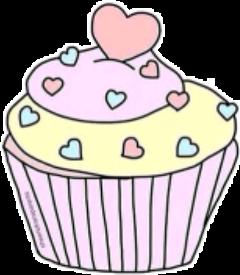 cupcake muffin hearts pink love