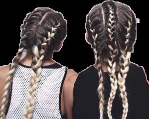 girl girls hair braid sticker freetoedit